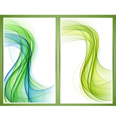 Abstract smoke wavy banners vector