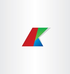 Letter k colol rgb icon vector