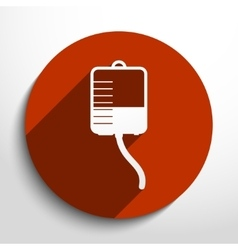 Medical dropper flat icon vector
