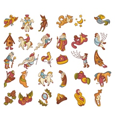 Set of fairytale characters vector