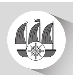 Sea flat icon design vector