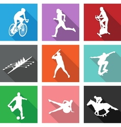 9 sport icons vector