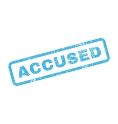 Accused text rubber stamp vector