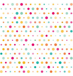 Colorful dotted seamless pattern vector