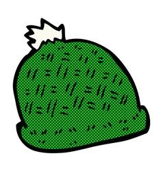 Comic cartoon winter hat vector