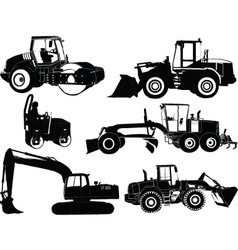 construction machines - vector image
