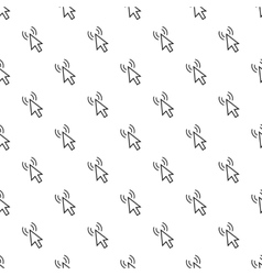 Cursor of mouse clicks pattern simple style vector image