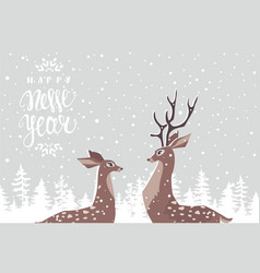 deer couple vector image