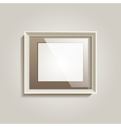 Empty frame on the wall vector