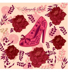 Fashion shoe background vector