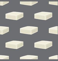 feta cheese seamless pattern cartoon flat vector image vector image