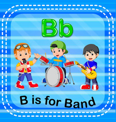 Flashcard letter b is for band vector