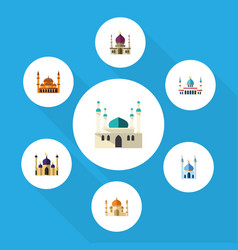flat icon mosque set of mohammedanism religion vector image