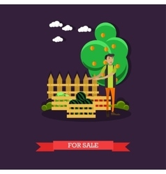 For sale concept in flat style vector