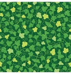 Green ivy plants seamless pattern background vector image