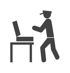 guard checking briefcase vector image