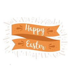 happy easter ribbon vector image vector image