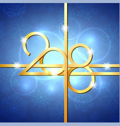 happy new year 2018 text design vector image vector image