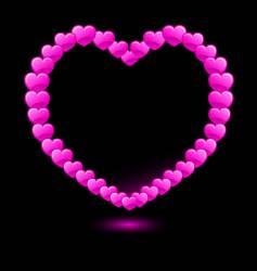 hearts forming heart shape vector image