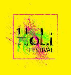 Holi festival card vector