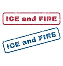 Ice and fire rubber stamps vector