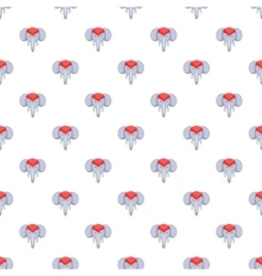 Indian elephant pattern cartoon style vector