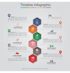 Infographics element web design layout vector image