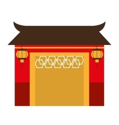 japanese building isolated icon design vector image