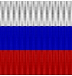 Knitted flag of the russian federation vector