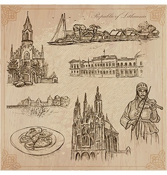Lithuania pictures of life pack vector