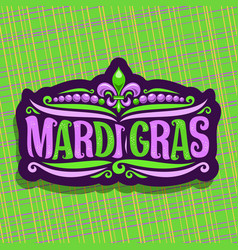 logo for mardi gras carnival vector image vector image