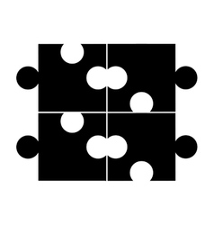 Puzzle piece game line icon vector