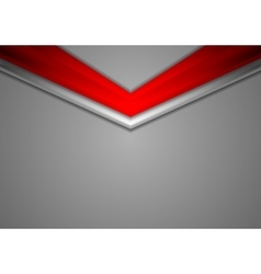 Red grey corporate abstract background vector