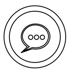 round symbol chat bubble icon vector image vector image