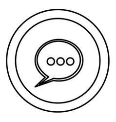 Round symbol chat bubble icon vector