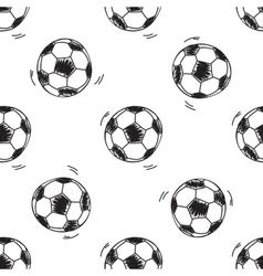 Seamless pattern with soccer balls vector image vector image