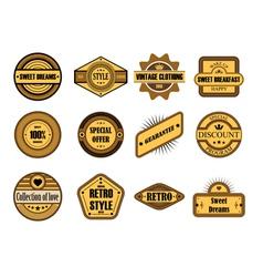Set of vintage brown labels vector image vector image