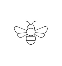 simple bee icon outline icon vector image