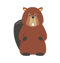 Single beaver icon vector