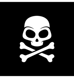 skull on black background vector image vector image