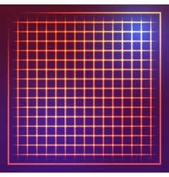 Square grid with light effect vector image vector image