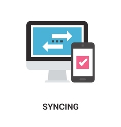syncing icon concept vector image vector image