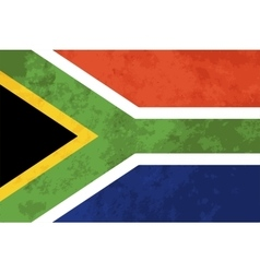 True proportions South Africa flag with texture vector image