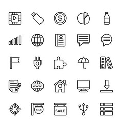 Web and mobile ui line icons 12 vector