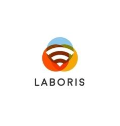 Wifi wireless internet signal logo design vector