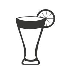 Cocktail glass drink beverage silhouette icon vector