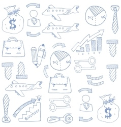 Doodle of business element image vector