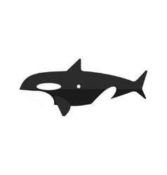 Orca whale primitive style childish sticker vector