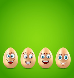 Humor easter card with funny eggs vector