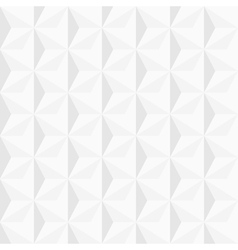 3d white geometric background vector image